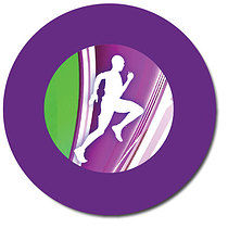 Personalised Athlete Stickers (35 per sheet - 37mm)