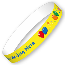 Personalised Balloons Wristbands (5 per sheet)