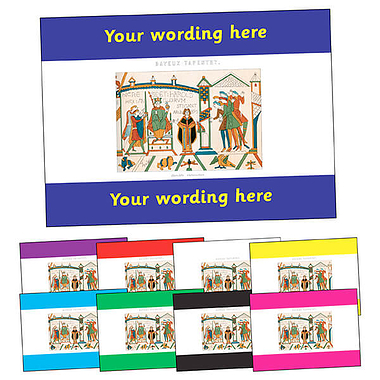 Personalised Bayeux Tapestry Postcard (A6)