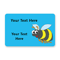Personalised Bee Stickers (32 per sheet - 46mm x 30mm)
