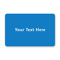 Personalised Blue 46mm x 30mm Text Only Stickers x 32