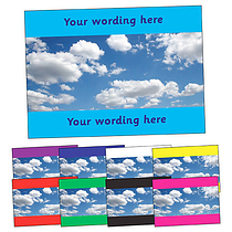Personalised Blue Sky Postcard (A6)