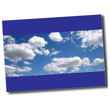Personalised Blue Sky Postcard - Blue (A6)