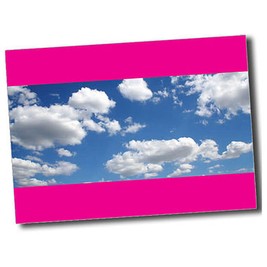 Personalised Blue Sky Postcard - Pink (A6)