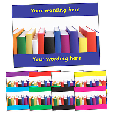 Personalised Books Postcard (A6)