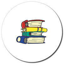 Personalised Books Stickers (35 per sheet - 37mm)