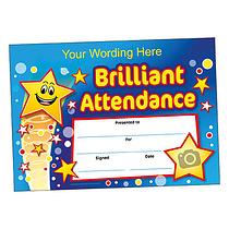 Personalised Brilliant Attendance Certificate (A5) Brainwaves