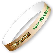 Personalised Bronze Award Wristbands (5 per pack)