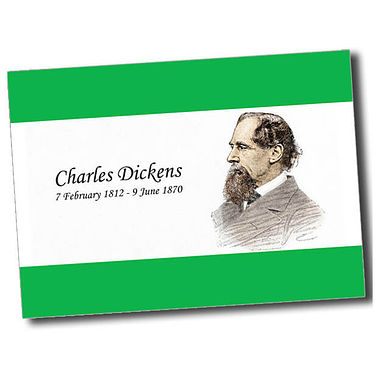 Personalised Charles Dickens Postcard - Green (A6)