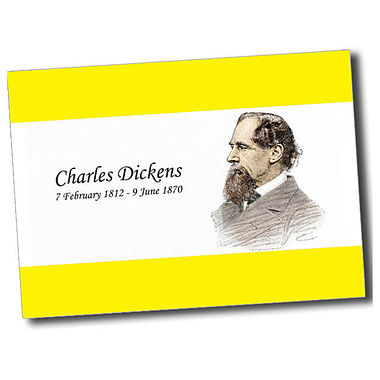 Personalised Charles Dickens Postcard - Yellow (A6)