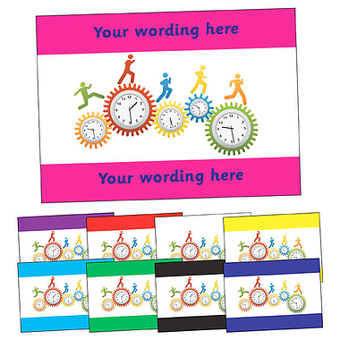 Personalised Clocks Postcard (A6)