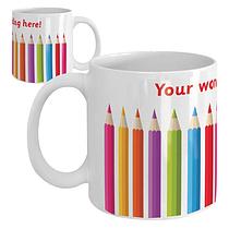 Personalised Coloured Pencils Ceramic Mug
