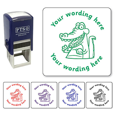 Personalised Crocodile Stamper (25mm)