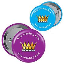 Personalised Crown Badges (10 Badges)