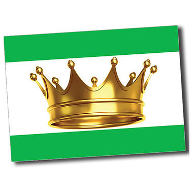 Personalised Crown Postcard - Green (A6)