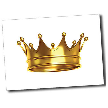 Personalised Crown Postcard - White (A6)