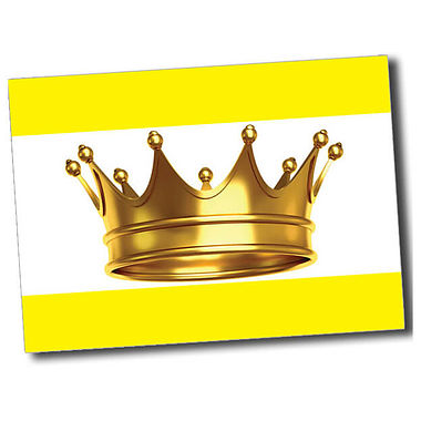 Personalised Crown Postcard - Yellow (A6)