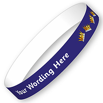 Personalised Crown Wristbands (5 Wristbands - 15mm x 250mm)