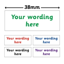 Personalised Design Your Own Stamper (38mm x 14mm)