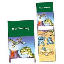 Personalised Dinosaur Bookmark