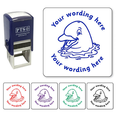 Personalised Dolphin Stamper (25mm)