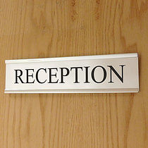 Personalised Door Sign - Silver (200mm x 50mm)
