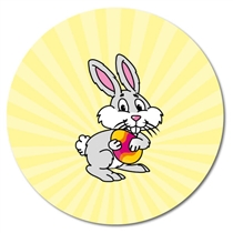 Personalised Easter Bunny Stickers (35 per sheet - 37mm)