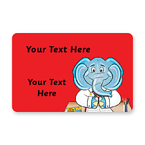 Personalised Elephant Stickers (32 per sheet - 46mm x 30mm)