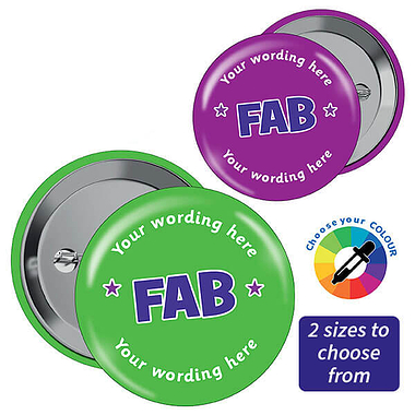 Personalised Fab Badges (10 Badges)