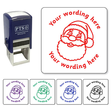 Personalised Father Christmas Stamper (25mm)