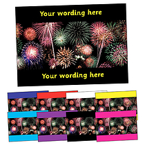 Personalised Fireworks Postcard (A6)