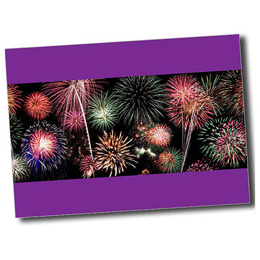 Personalised Fireworks Postcard - Purple (A6)