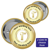 Personalised First Badges - Gold (10 Badges)