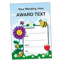Personalised Flowers & Butterflies Certificate (A5)