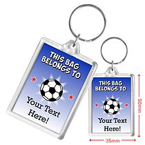 Personalised Football Acrylic Keyring