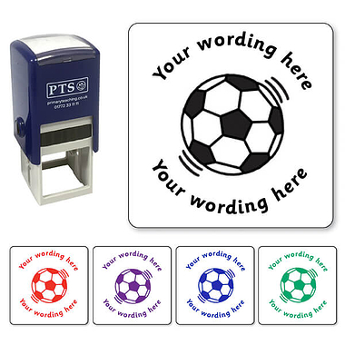 Personalised Football Stamper (25mm)