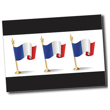 Personalised French Flag Postcard - Black (A6)