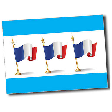 Personalised French Flag Postcard - Cyan (A6)