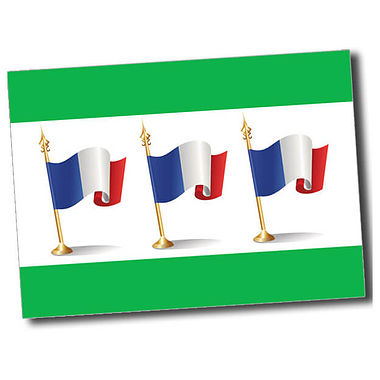 Personalised French Flag Postcard - Green (A6)