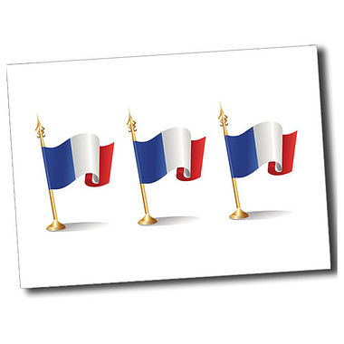 Personalised French Flag Postcard - White (A6)