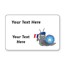 Personalised French Stickers (32 per sheet - 46mm x 30mm)
