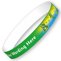 Personalised Frog Wristbands (5 Wristbands - 15mm x 250mm)
