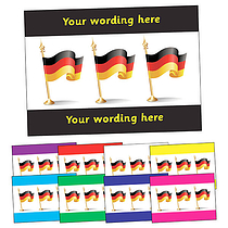 Personalised German Flag Postcard (A6)