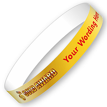 Personalised Gold Award Wristbands (5 per pack)
