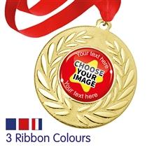 Personalised Gold Medals (10 Pack - Brainwaves)