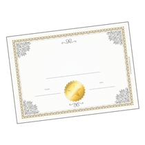 PERSONALISED Graduation Certificate - White & Gold (A5)