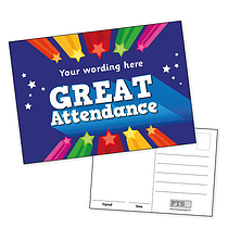 Personalised Great Attendance Postcard (A6)