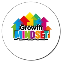 Personalised Growth Mindset Stickers (35 per sheet - 37mm)