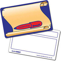 Personalised Handwriting Plastic CertifiCARD (Wallet Size Card)