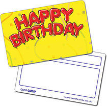 Personalised Happy Birthday Plastic CertifiCARD (86mm x 54mm)